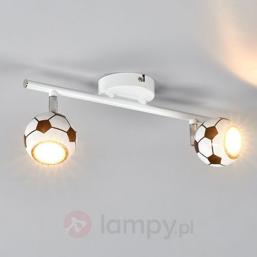 Listwa lampa oprawa sufitowa spot light play 2x4.5w gu10 led biało/czarna 2500204 marki Spotlight