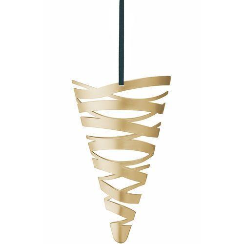 Ozdoba świąteczna duża trąbka, złota - Stelton (5709846019706)