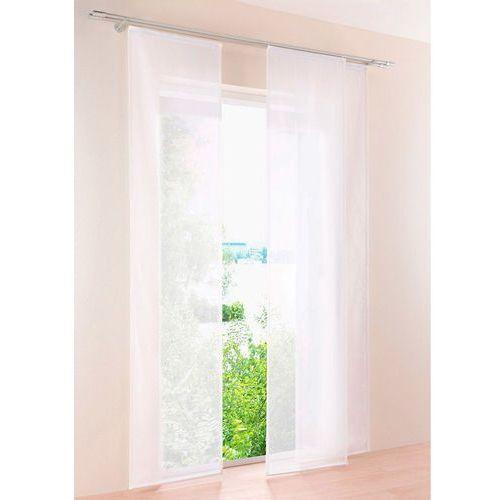 Bonprix Prześwitująca zasłona panelowa, jednokolorowa (1 szt.) biały