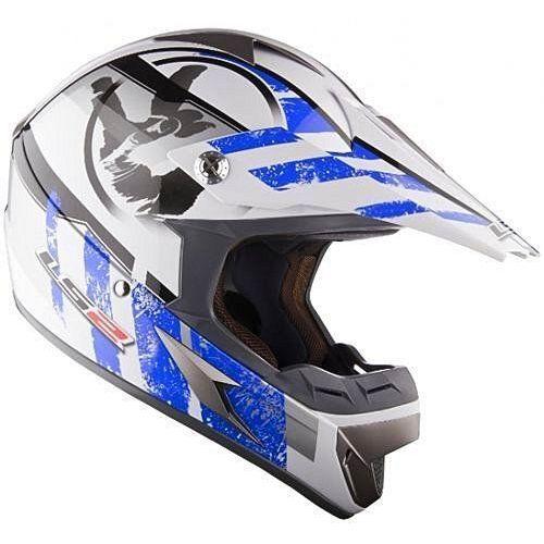 Ls2 Kask  mx 433 white blue stripe (4043392260030)