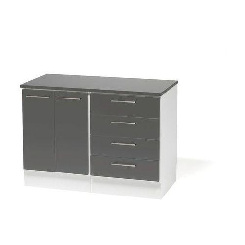 Szafka biurko - szafka + szafka z 4 szufladami Korpus: BIały Drzwiczki: Sz