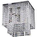 Sufitowa LAMPA glamour EUPHORIA 5970328 Spotlight kryształowa OPRAWA kwadratowa PLAFON crystal przezroczysty