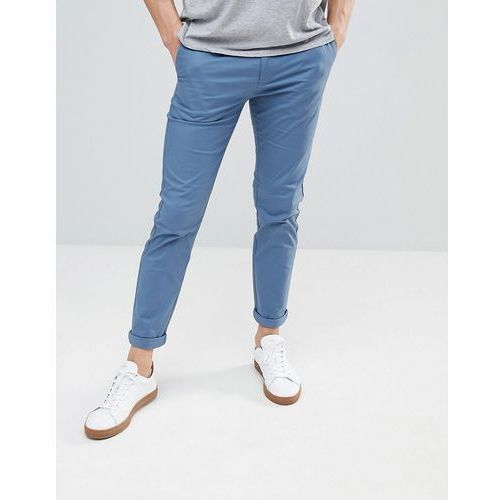 Burton Menswear Skinny Fit Chinos In Blue - Blue, kolor niebieski