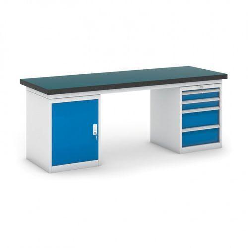 Stół warsztatowy gb z szafką i kontenerem szufladowym, 2100 mm marki B2b partner
