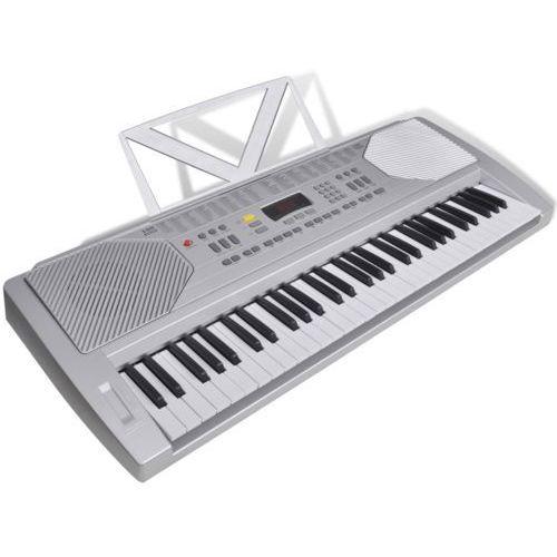 vidaXL Keyboard elektryczny ze stojakiem na nuty - produkt z kategorii- Keyboardy i syntezatory