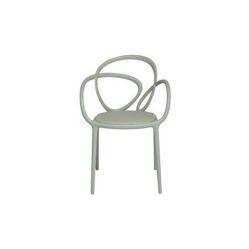 krzesło loop z poduszką szare - 2 szt. 30002gy marki Qeeboo