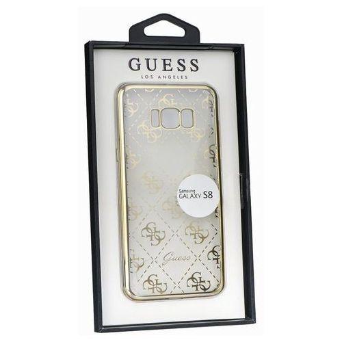 Guess guhcs8tr4gg samsung galaxy s8 (przeźroczysty-złoty) - produkt w magazynie - szybka wysyłka! (3700740400630)