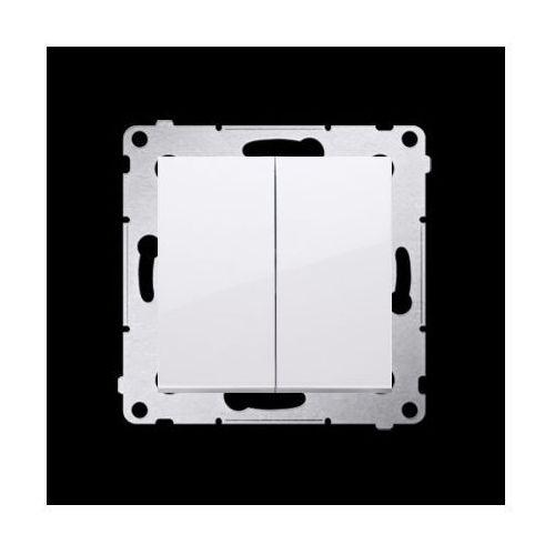 Przycisk podwójny zwierny bez piktogramu (moduł) 10AX, 250V~, szybkozłącza; biały