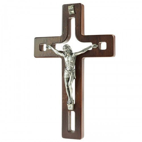 Nowoczesny krzyż drewniany z wycięciami marki Produkt polski