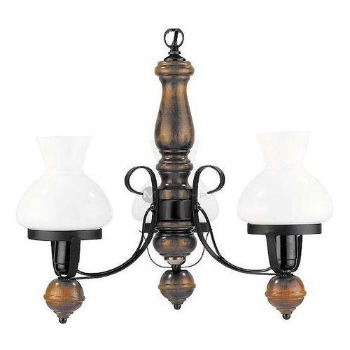 Rabalux Żyrandol lampa wisząca petronel 7078 rustykalna oprawa vintage orzech