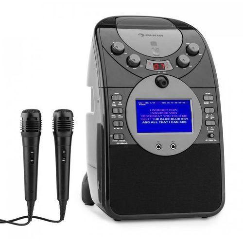 Auna Screenstar zestaw karaoke kamera cd usb sd mp3 z 2 x mikrofon czarny