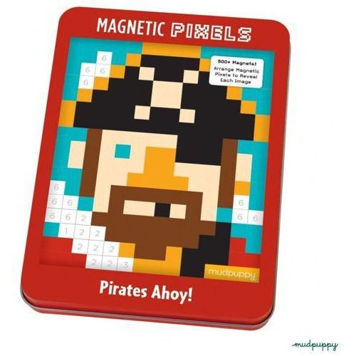 MUDPUPPY Magnetyczne układanki, pixele - Piraci