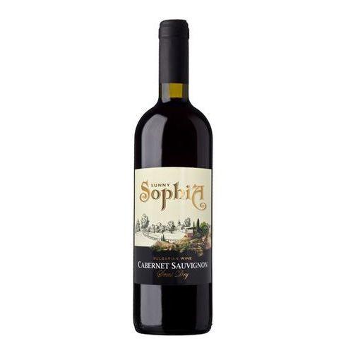 SUNNY SOPHIA 750ml Cabernet Sauvignon Wino bułgarskie czerwone półwytrawne   DARMOWA DOSTAWA OD 150 ZŁ! (5908235948850)