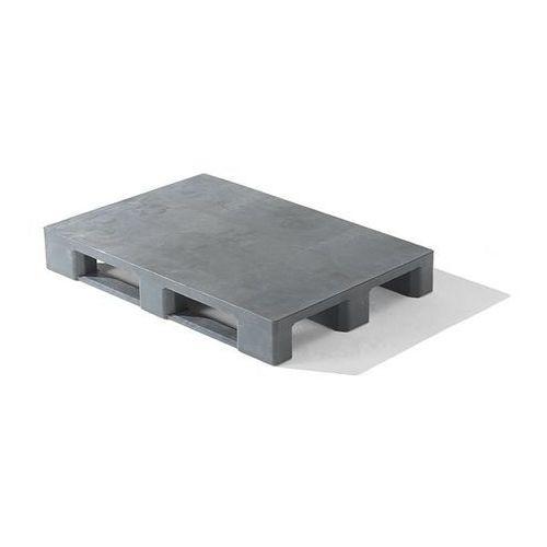 Kiga kunststofftechnik Paleta z tworzywa euro, z krawędzią, powierzchnia zamknięta, szary. z recyrkulow