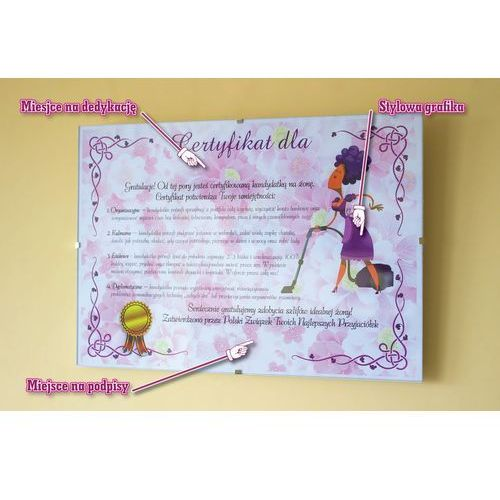Certyfikat przyszłej żony - wersja w antyramie
