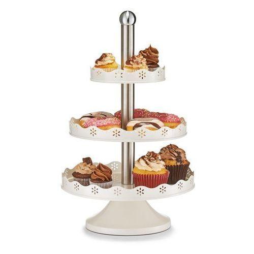 Okrągła patera na ciasta, słodycze - 3 poziomy, stal nierdzewna, marki Zeller