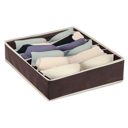 Springos Organizer do szuflady na bieliznę z 7 przegródkami brązowy