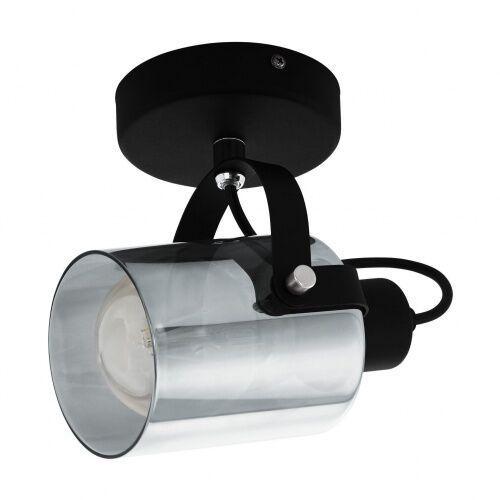 99052 BERREGAS spot stal czarny, chrom / szkło napowietrzane czarny-transparentny KINKIET EGLO, 99052