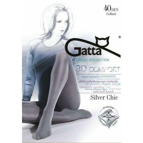 Rajstopy melanżowe z satynowym połyskiem silver chic 40 den mikrofibra 3d marki Gatta