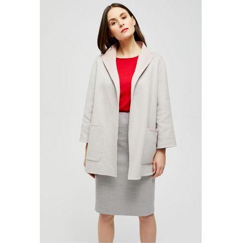 Dwukolorowy płaszcz z kaszmirem - Patrizia Aryton, 1 rozmiar
