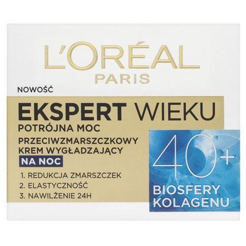 Loreal Paris Expert Wieku 40+ Przeciwzmarszczkowy wygładzający krem do twarzy na noc 50 ml, 3600522550075