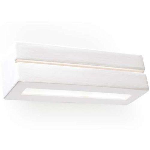 Sollux Kinkiet lampa ścienna sol sl231 ceramiczna oprawa prostokątna belka przyścienna biała (5902622427300)