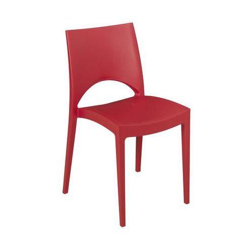 Telehit garden Krzesło ogrodowe paris plastikowe czerwone (8005465822480)