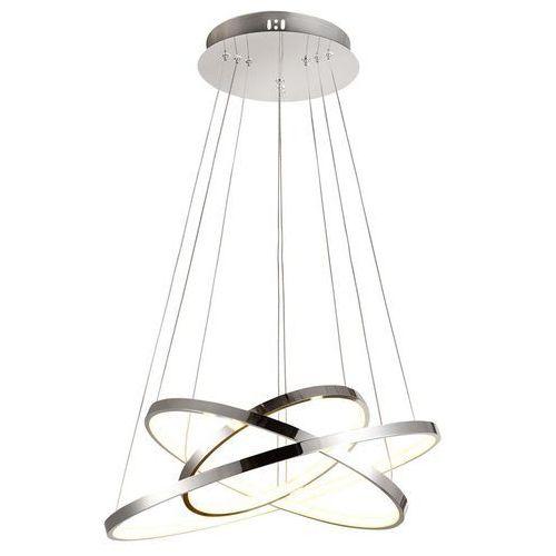 LAMPA wisząca LUNE 33-64738 Candellux futurystyczna OPRAWA zwis LED 60W pierścienie rings chrom, kolor Srebrny