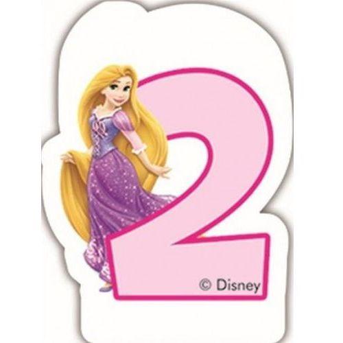 Świeczka w kształcie cyfry 2, disney princess marki Party world