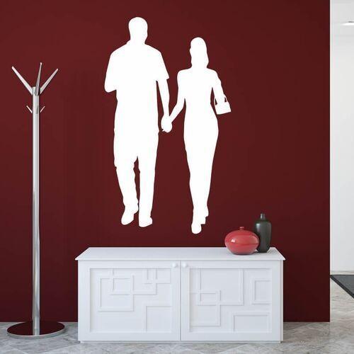 Wally - piękno dekoracji Naklejka welurowa zakochana para 1646