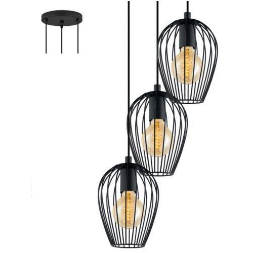 Lampa wisząca 3x60w newtown 38 cm, 49479 marki Eglo