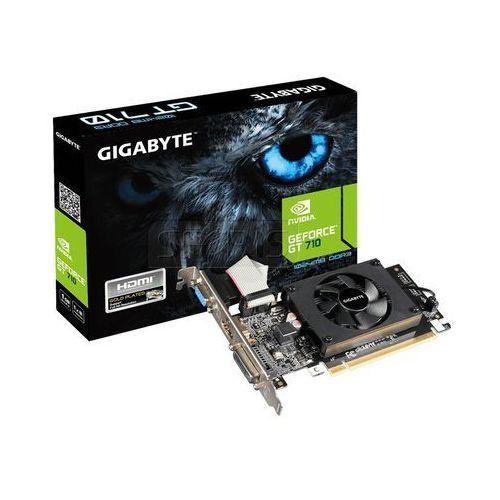 Karta graficzna Gigabyte GeForce® GT 710 1024MB DDR3/64b D/H PCI-E LP - GV-N710D3-1GL z kategorii Karty graficzne