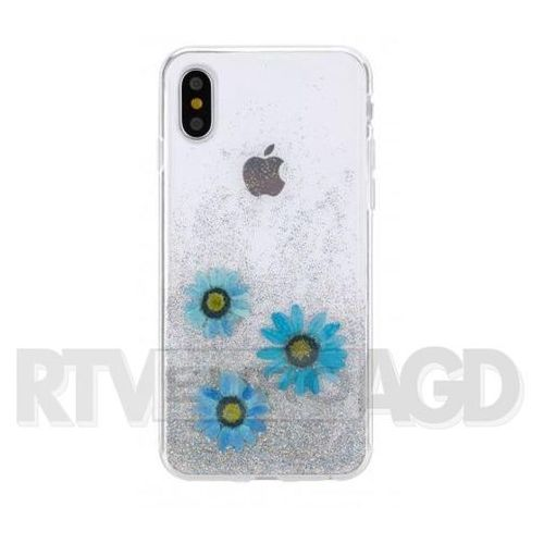 Etui FLAVR iPlate Real Flower Julia do Apple iPhone X Niebieski (31469) (4029948070339)