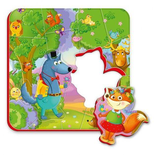 Magnesy piankowe puzzle Mieszkańcy lasu, RK1304-06