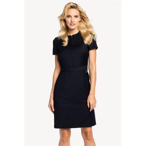 Granatowa sukienka w delikatny wzór -  marki Potis & verso