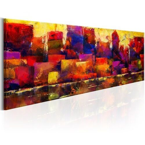 Artgeist Obraz - kolorowa panorama miasta