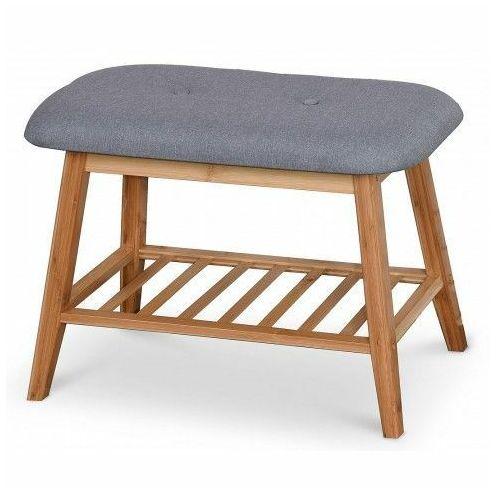 Producent: elior Drewniana ławka z półką na obuwie laosa 60 cm - popiel