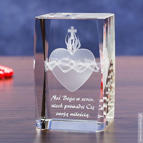 OKAZJA - Gorejące Serce 3D • personalizowana statuetka 3D • Pamiątka Religijna