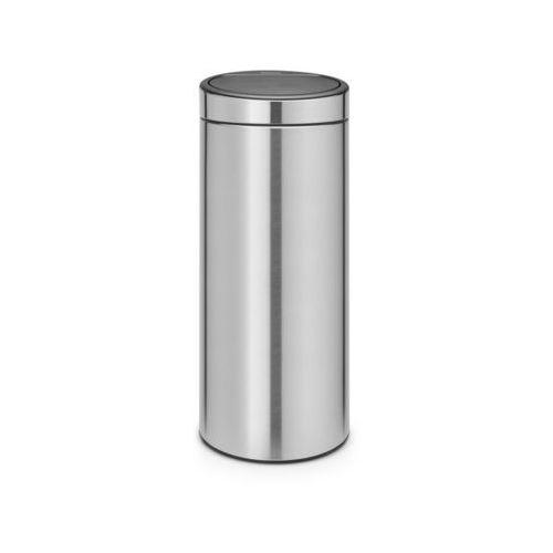 Brabantia - kosz touch bin - 30 l - plastikowe wiaderko - stal matowa - stal matowa