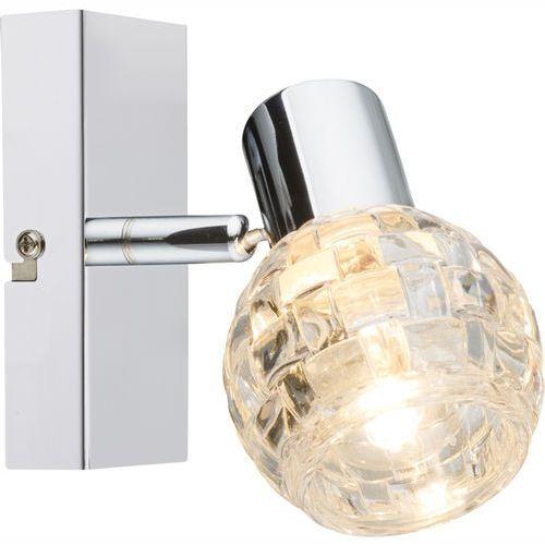 Kinkiet lampa oprawa ścienna Globo Keith I 1x40W E14 chrom/przezroczysty 541007-1