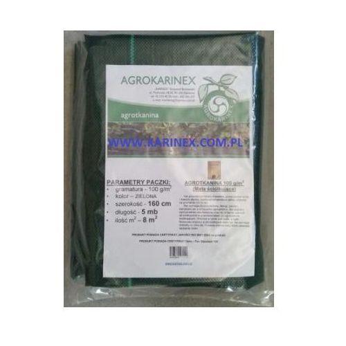 Agrotkanina zielona 100 g/m2, 1,6 x 5 mb. Paczka, AGROTKANINA ZIELONA 100/160/5 paczka