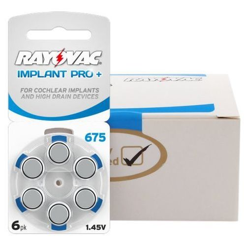 300 x baterie do aparatów słuchowych 675 implant pro+ mf marki Rayovac