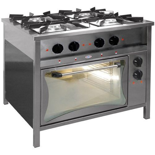 Kuchnia gazowa 4-palnikowa z piekarnikiem elektrycznym EGAZ TG 424 + PKE-1