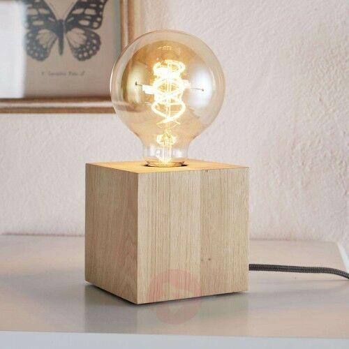 Lampa stołowa Trongo – sześcian, antracytowy kabel, 22601872173