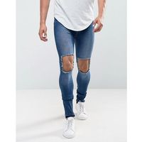 Dr denim leroy super skinny dark wrecking blue - blue