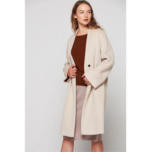 Płaszcz z kaszmiru i wełny dziewiczej - Patrizia Aryton, 1 rozmiar