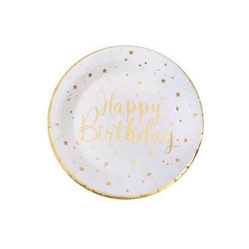 Talerzyki urodzinowe Happy Birthday - 22,5 cm - 10 szt. (3660380053682)