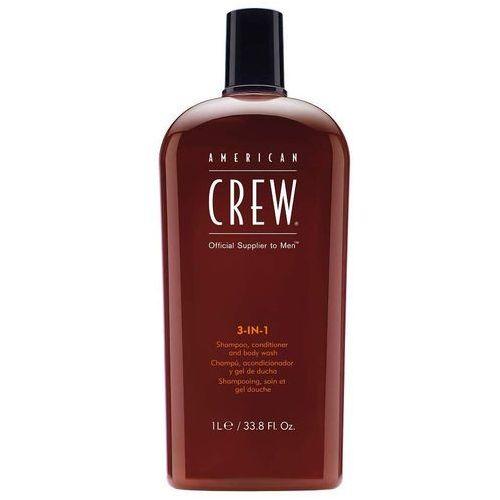 American crew classic 3-in-1 | szampon, odżywka i żel pod prysznic dla mężczyzn 1000ml