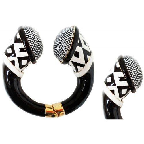 Mosiężna bransoletka Pasotti Br K19 - Particular Black and White Bracelet