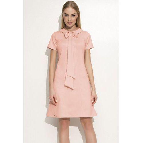 Sukienka model m351 powder pink, Makadamia